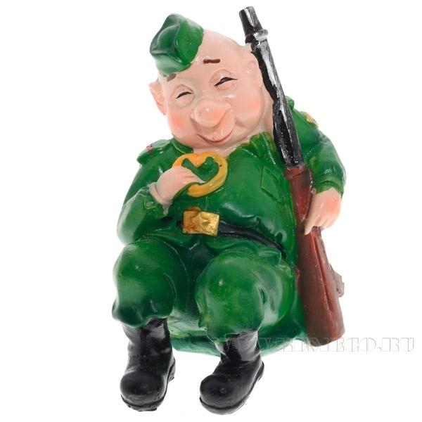 Фигурка декоративная Солдат, 7х6х8 см оптом