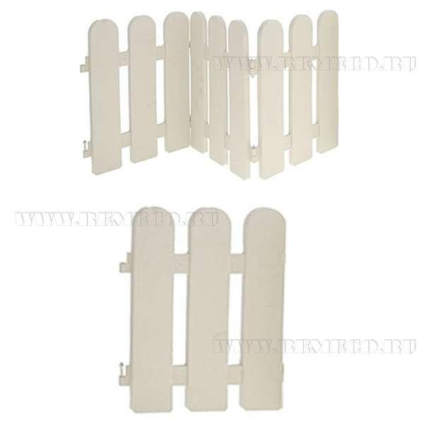 Ограда для клумб, заборчик,1 секция, 26x30х1см оптом
