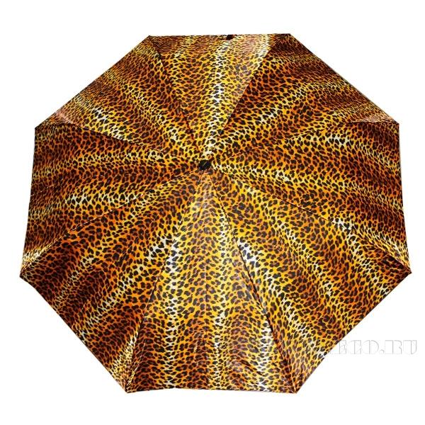 Зонт 23, полный автомат (Атласный, Леопард) оптом