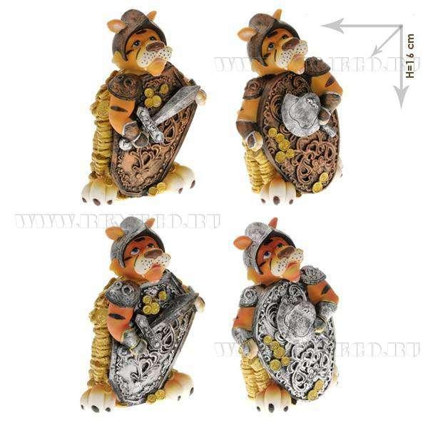 Копилка Тигр, H 16см, 4в оптом