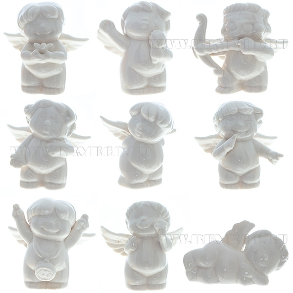 Фигурка декоративная Ангел-купидон, H 7см, 9в оптом