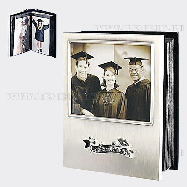 Фотоальбом на 80 фотографий (10х15 см) с фотрамкой (10х15 см), 17х17х4 см оптом
