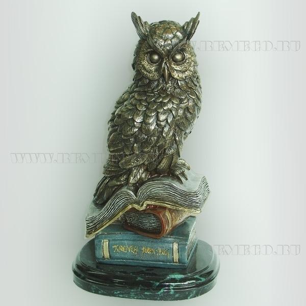 Фигурка декоративная Сова, 18х15х32 см оптом