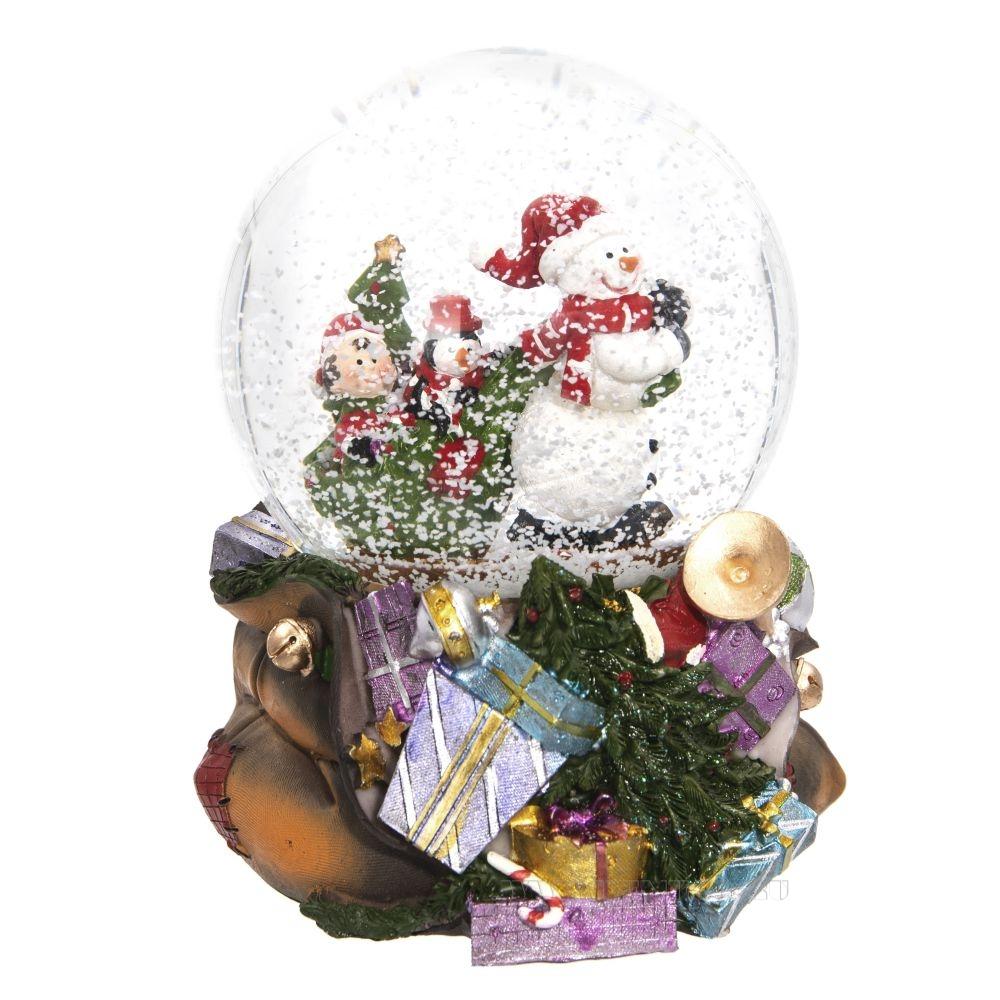 Фигурка декоративная в стеклянном шаре, 100 мм, 2 в. оптом