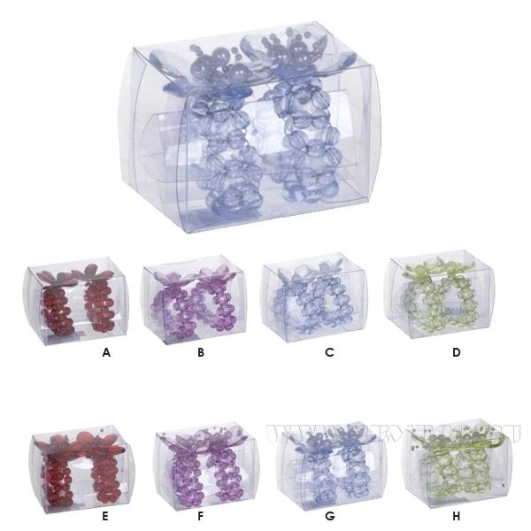 Набор из 2-х колец для салфеток, 8в., L8 W6 H6см оптом