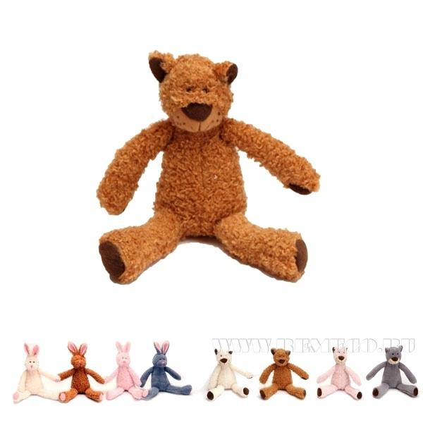 Игрушка мягконабивная Заяц, Медведь, 8 в., H 22 см оптом