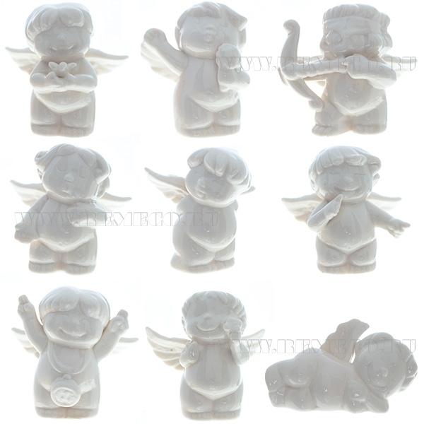 Фигурка декоративная Ангел-купидон, H 9см, 9в оптом