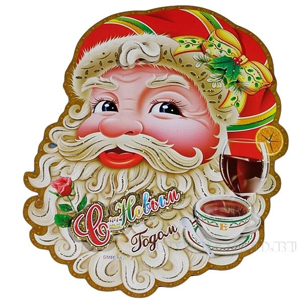 Новогоднее панно Санта, L34 W27 см оптом