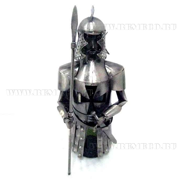 Подставка для бутылки Рыцарь, L15 W15 H32 см оптом