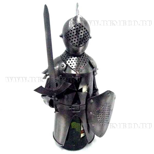 Подставка для бутылки Рыцарь, L18 W13 H33 см оптом