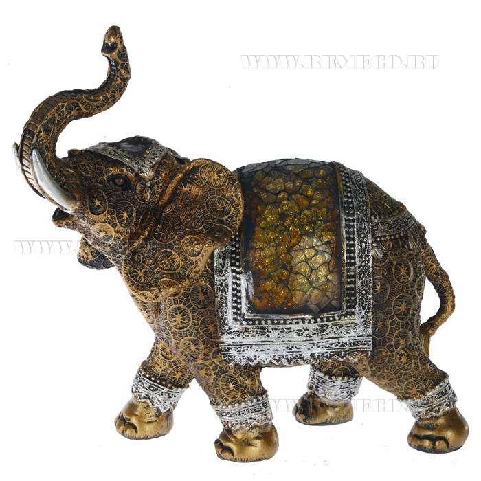 Фигурка декоративная Слон, H23 см оптом