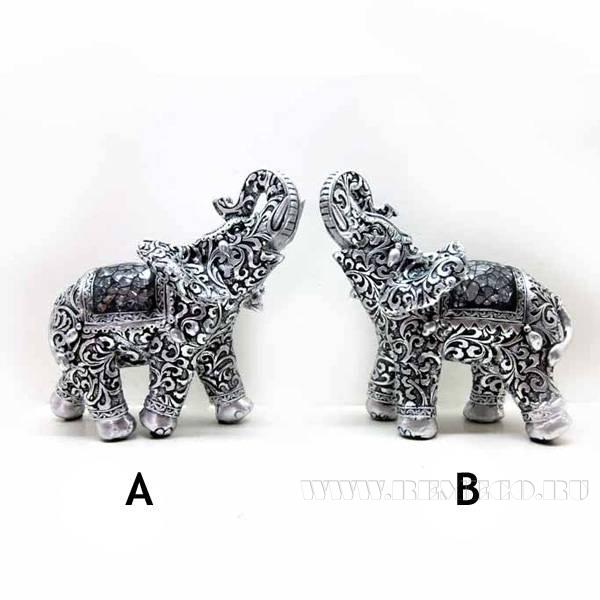 Фигурка декоративная Слон, L13 W8 H14см, 2в. оптом