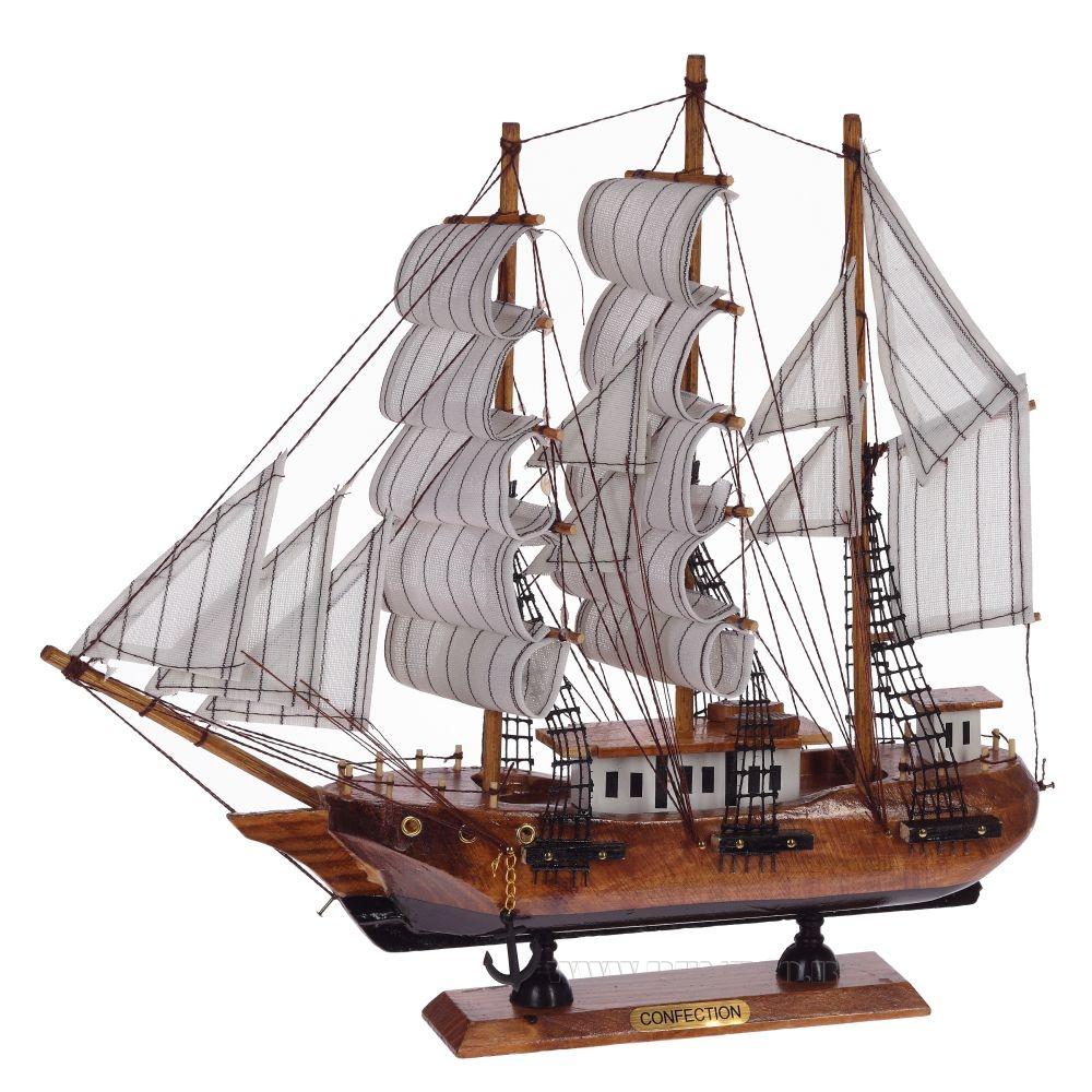 Корабль Сonfection, L33 см оптом