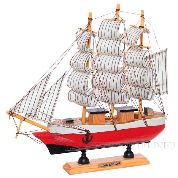 Корабль Сonfection, L24 см оптом