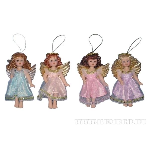 Фигурка декоративная Ангел, 4 в., L11 W4 H14 см оптом
