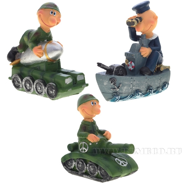 Фигурка декоративная Солдат, 3в., L8 W4 H8 см оптом