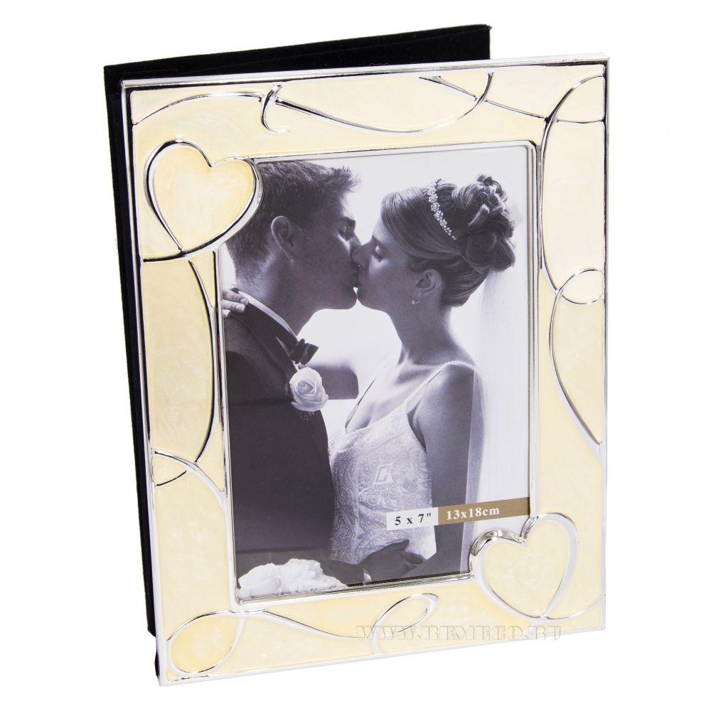 Фотоальбом на 36 фотографий (13х18 см) с фоторамкой для 1 фото (13х18 см), 23х17х5 см оптом