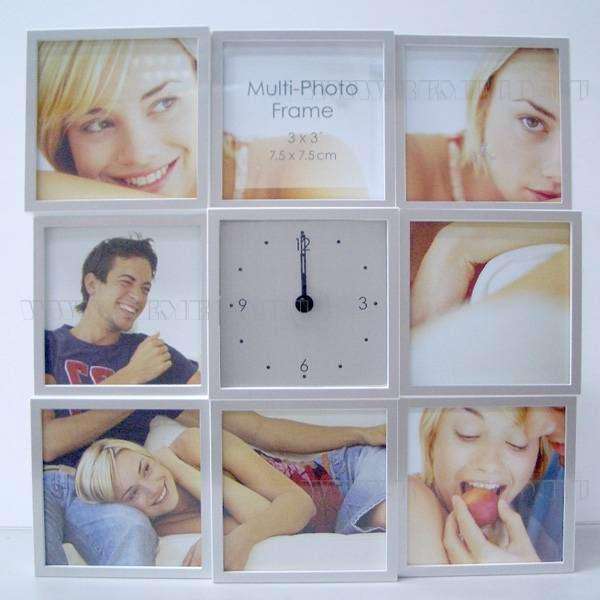 Композиция Время с фоторамкой для 8 фото (9х9 см), H 25 см оптом