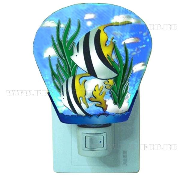 Светильник (ночник Рыбки), 8х10 см оптом