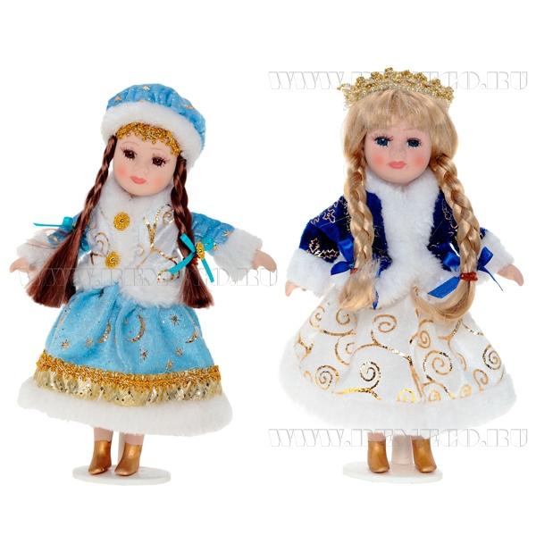 Кукла Снегурочка, 23 см, 2 в оптом