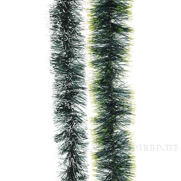 Мишура, 5 сложений (зеленая), 6x270 cм, 2 в. оптом