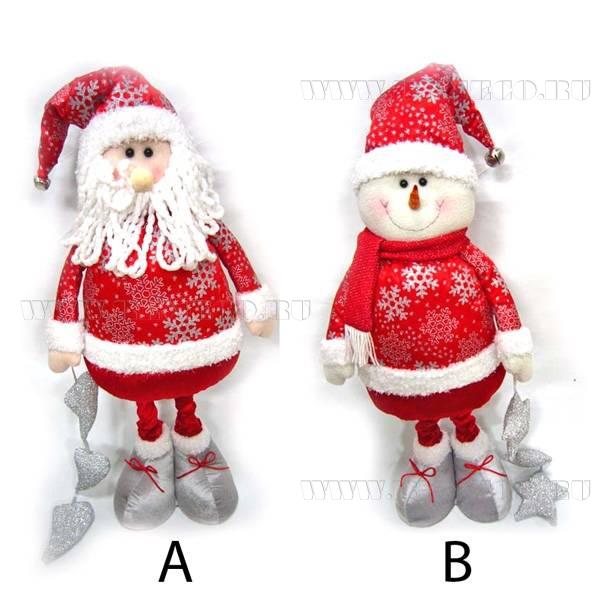 Дед Мороз, Снеговик (гнущиеся), H 94 см оптом