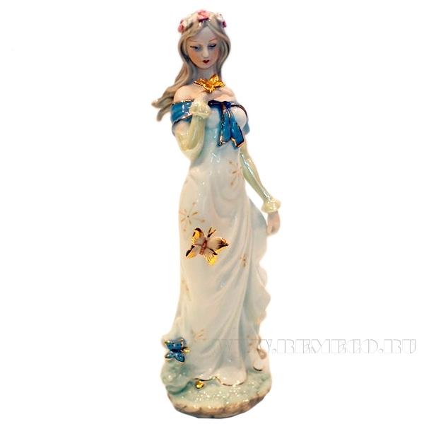 Фигурка декоративная Девушка, L12 W7,5 H31 см оптом