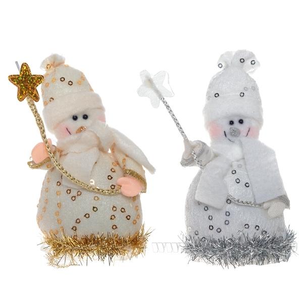 Новогоднее украшение Снеговик, 11 см, 2 в. оптом