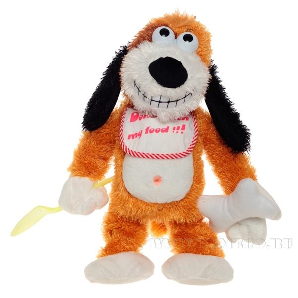 Игрушка мягконабивная Собака с функцией движения и музыкой, H 30 см (тип батарейки АА-3 шт.) оптом
