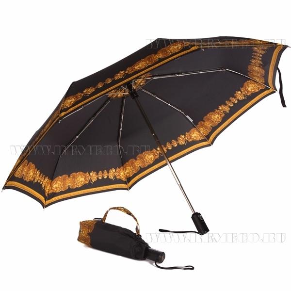 Зонт 23, полный автомат (Львы на черном) оптом