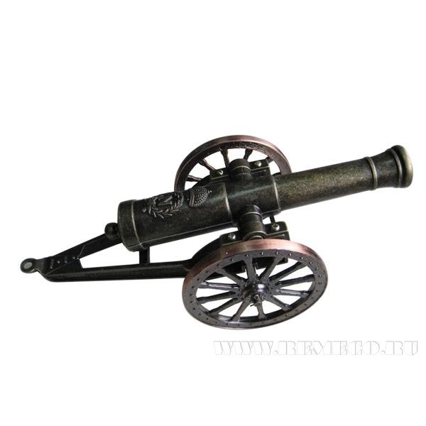 Декоративное изделие Артиллерийская пушка-зажигалка, L23 см оптом