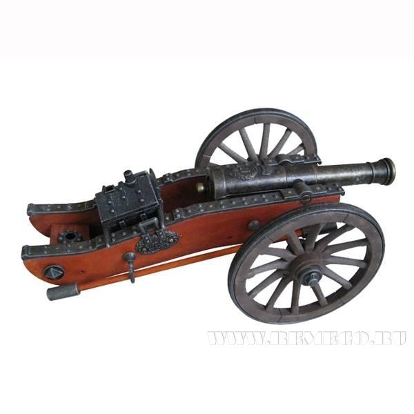 Декоративное изделие Артиллерийская пушка, L28 см оптом