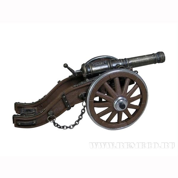 Декоративное изделие Артиллерийская пушка-зажигалка, L19 см оптом