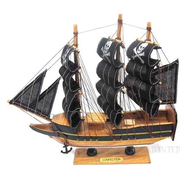 Изделие декоративное Корабль Confection, L24 см оптом