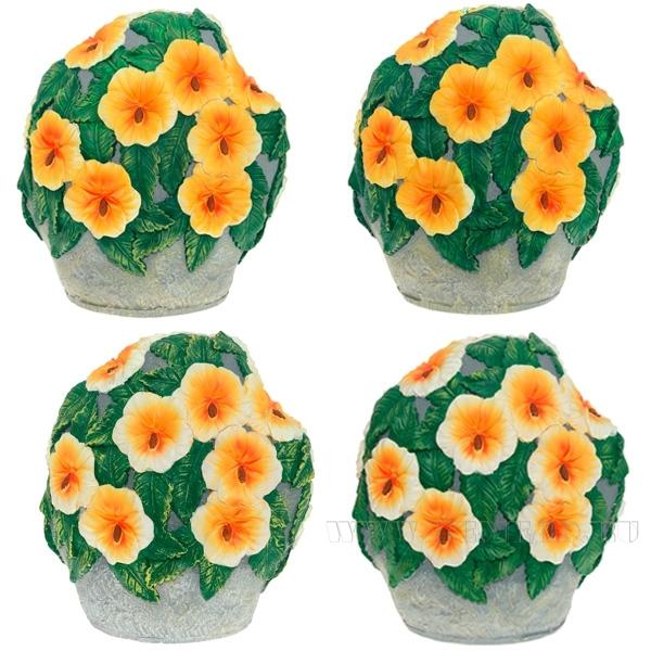 Изделие декоративное садовое Цветы на камне Петунья 4в  L32W22H36 оптом