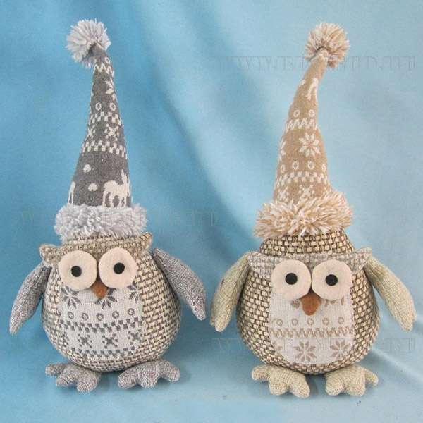 Новогодние подарки оптом, Сова, 32 см, 2 в. арт. 247235 Мягкая игрушка,текстиль купить оптом по низким ценам, купить в интернет