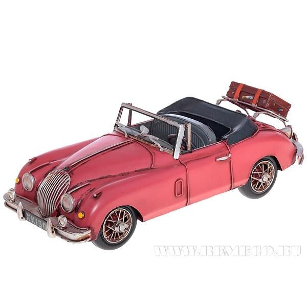 Изделие декоративное Ретро-автомобиль 1959 Rose Jaguar XK150, L32 W12 H10 см оптом