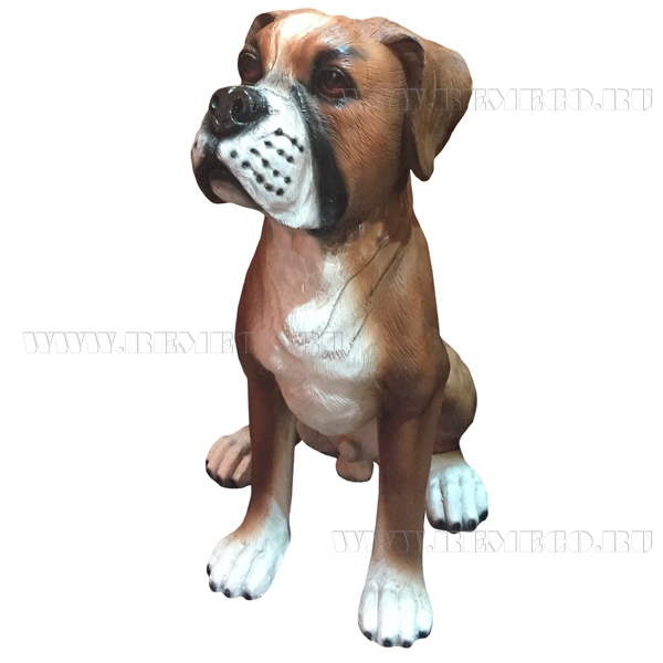Фигура декоративная садовая Щенок боксера (висячие уши) L25W19H32 см оптом