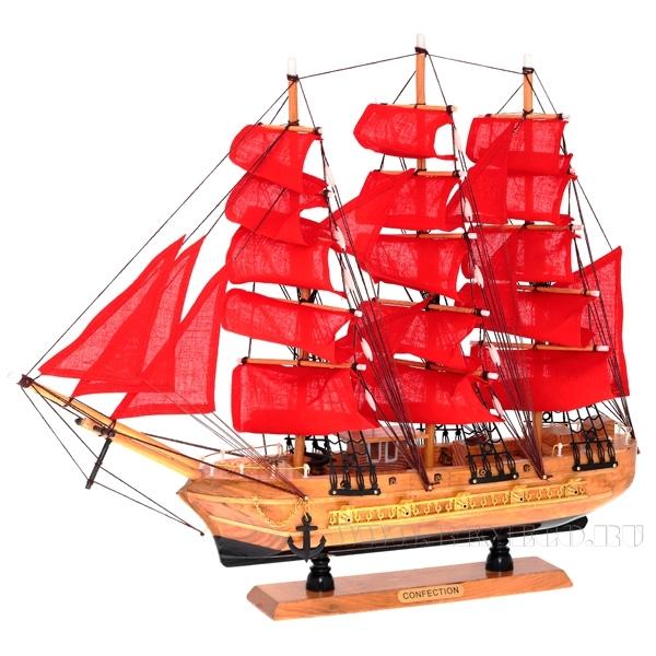 Изделие декоративное Корабль, L50 W10 H46 см оптом