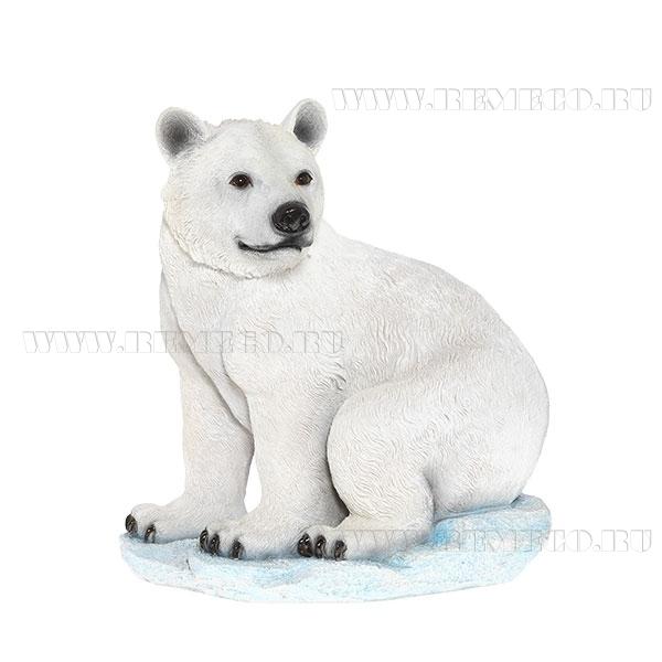 Фигура декоративная (Медведь белый на камне) оптом