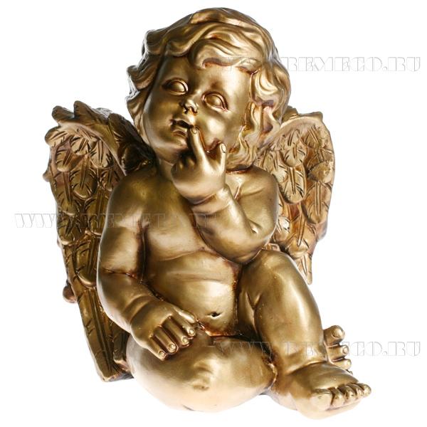 Фигура декоративная Ангел L23W21H27 см (бронза) оптом