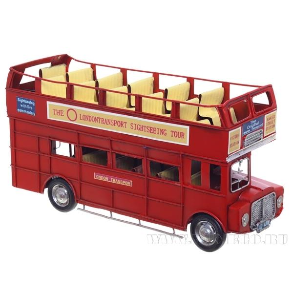 Изделие декоративное Автобус, L32 W11 H17 см оптом