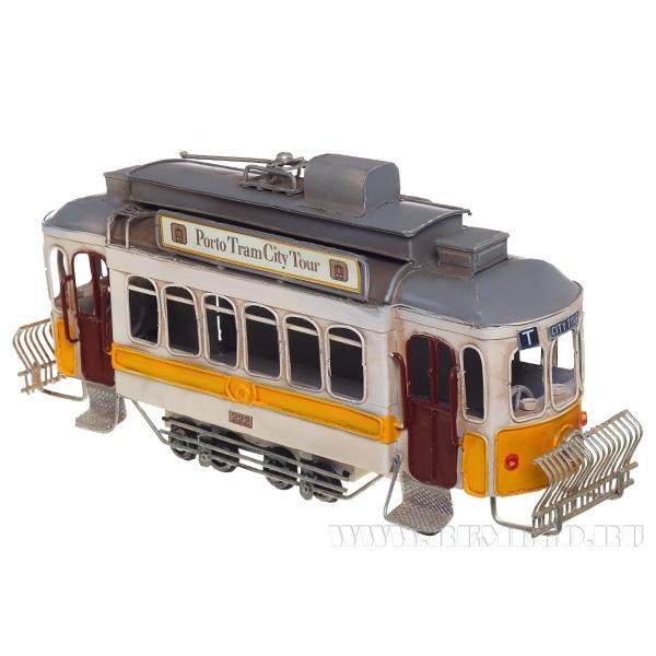 Изделие декоративное Трамвай , L33 W10 H16 см оптом
