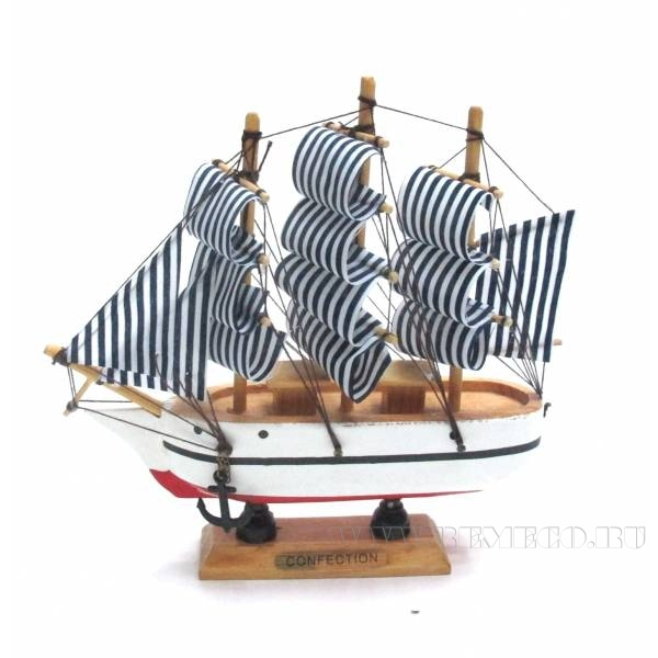 Изделие декоративное Корабль Confection, L15W3,5H15см оптом