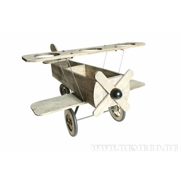 Декоративное изделие Самолет, L56 W40 H31 см оптом