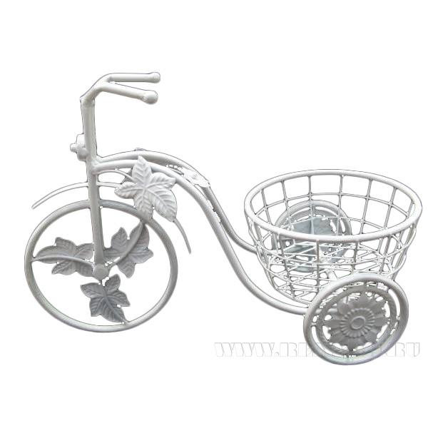 Кашпо Велосипед(без упаковки), L47W22H34см оптом