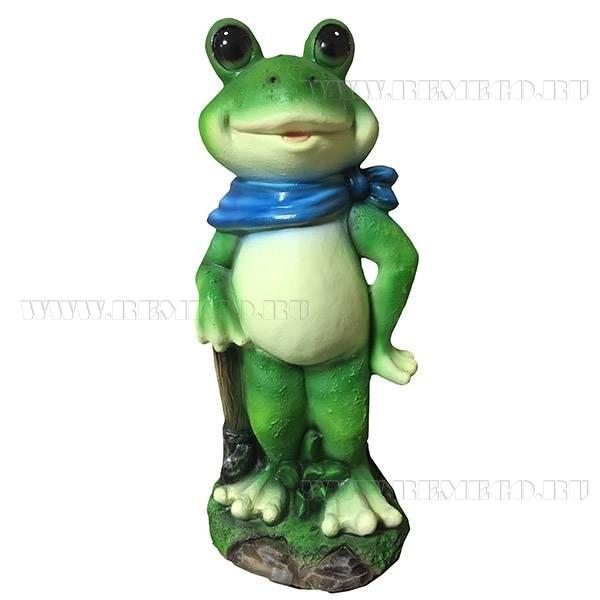 Фигура декоративная Лягушка с лопатой оптом