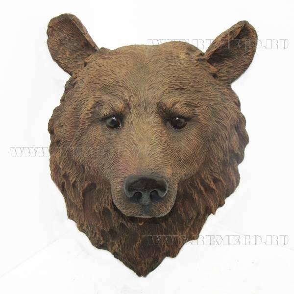 Фигура декоративная садоваяГолова медведя, L34W23H42 оптом
