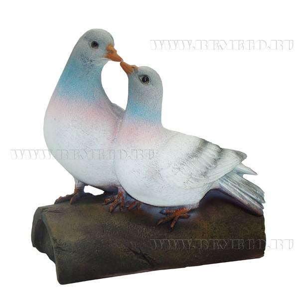 Фигура декоративная садоваяПара голубей, L21 W13,5H21см оптом