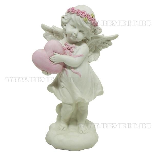 Фигурка декоративная Ангелочек любви, L13,5W8,5Н25см оптом